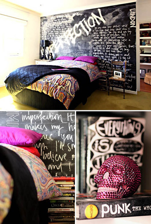 punk rock bedroom decorations