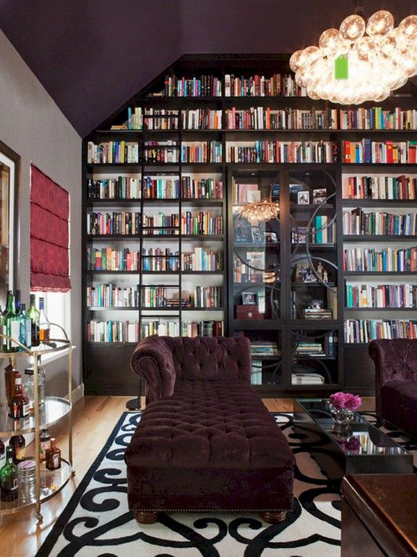 Cool Home Libraries Purplehomelibraryideas
