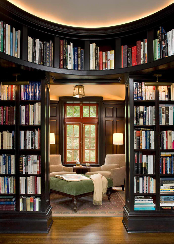 Home Library Room: Reading-room-with-library-ideas