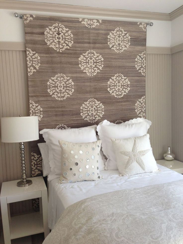 Rug Heavy Fabric Headboard Ideas