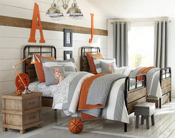Small basketball bedroom design - Decoration of boys bedroom ...