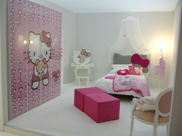 25 hello kitty bedroom theme designs home design and for Chambre hello kitty
