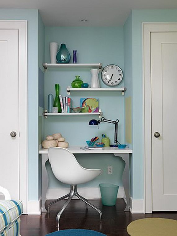 small home office hidden design