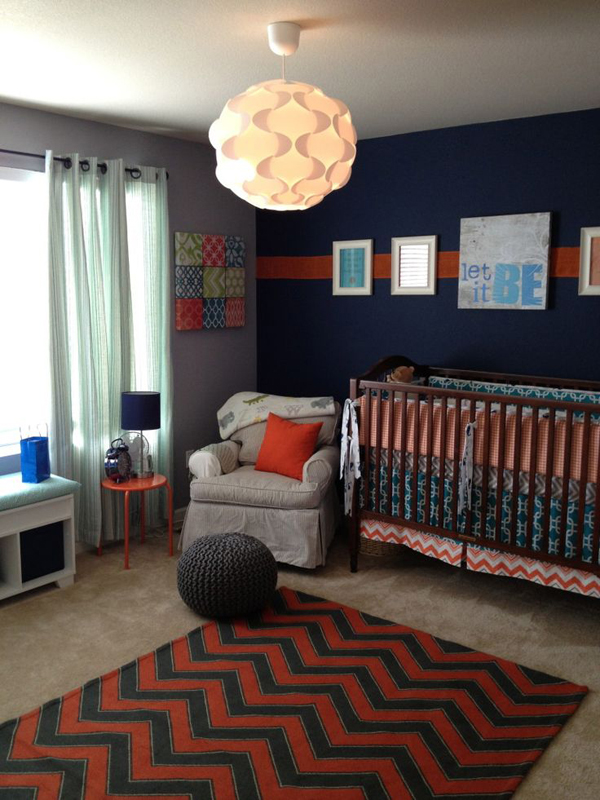 25 minimalist nursery room ideas home design and interior for Blue and red boys bedroom ideas