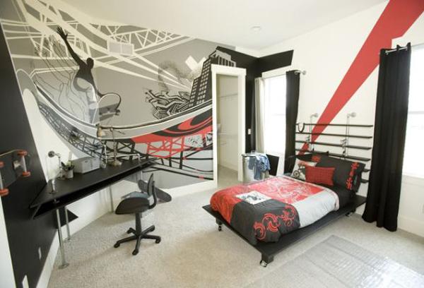 Wallk Ceiling Punk Bedroom Style Home