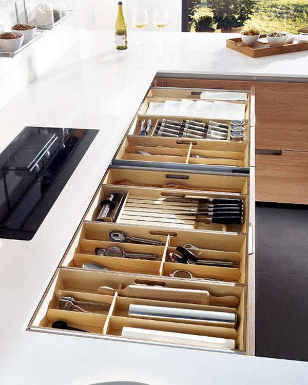 wooden kitchen drawer ideas