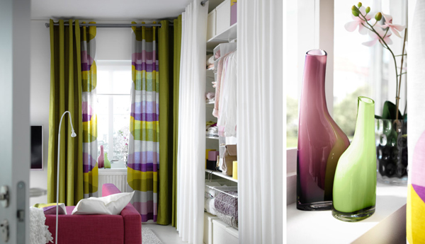 With Hot Orange Curtains And Complementary Colors In The Rest Of Room You Get A Modern Look Extra Spice