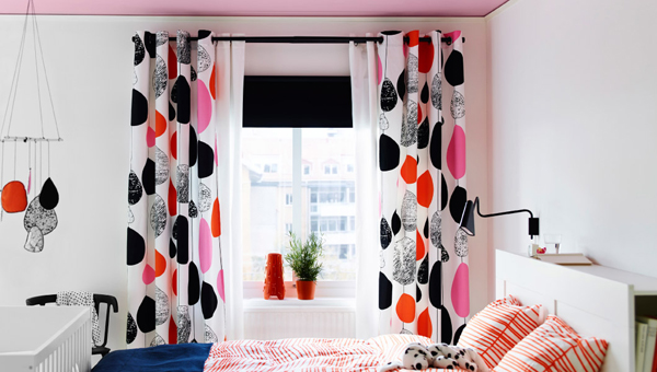 White Curtains black and white curtains ikea : IKEA Curtains Inspiration With Soft Touch | Home Design And Interior