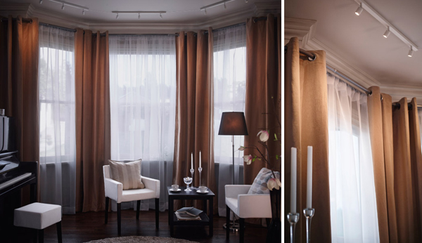 Curtains Ideas ceiling curtains ikea : IKEA Curtains Inspiration With Soft Touch | Home Design And Interior