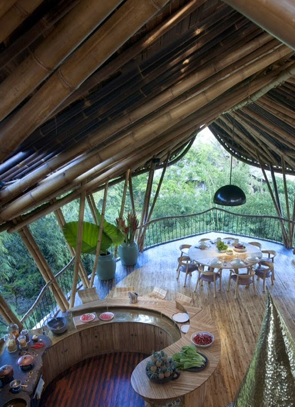 Bamboo Tree House Interior