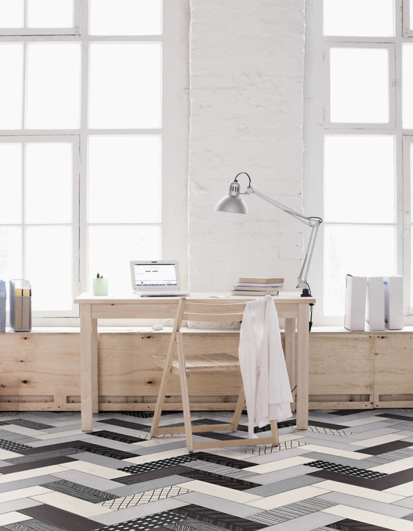 10 best rooms with beautiful tile floors home design and for Black and white tile floors