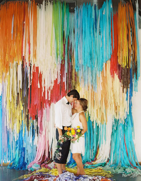 Color Pop Wedding Backdrop Ideas