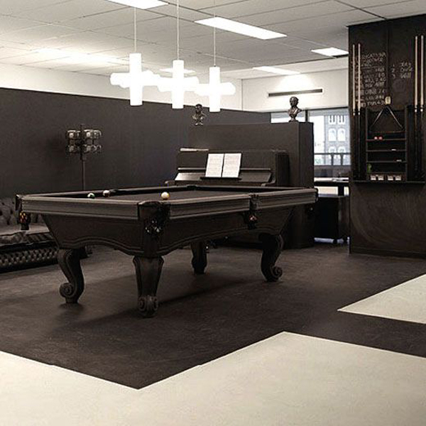 30 Incredible Home Office Den Design Ideas: Contempory-billiard-table-in-office-room
