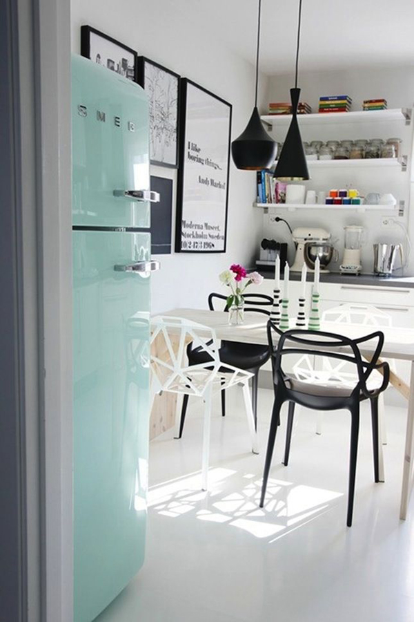 20 retro smeg fridges for small kitchens home design and interior. Black Bedroom Furniture Sets. Home Design Ideas