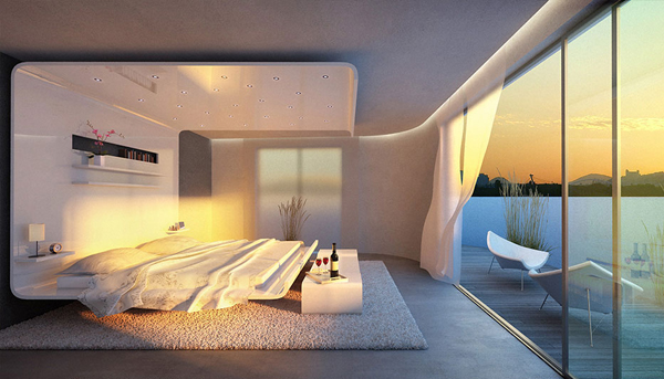 outstanding beach style bedroom ideas | cool-and-modern-bedrooms-with-beach-view