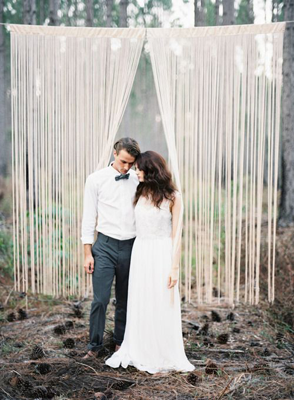 backdrops ceremony romantic backdrop simple outdoor indoor background outside decorations booth forest ceremonies rustic diy easy weddings decor minimalist beach