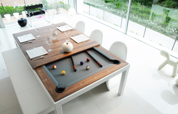 functional-dining-pool-table-designs