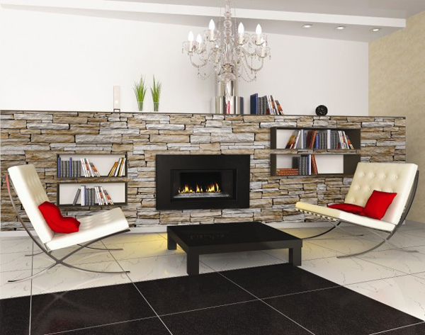 gas-fireplace-home-liry Designs For Home Liry With Fire Place on