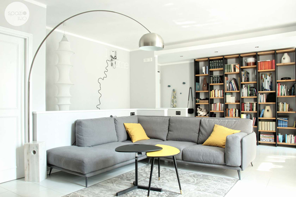 Modern and attractive grey apartment in rome home design for Apartment design rome