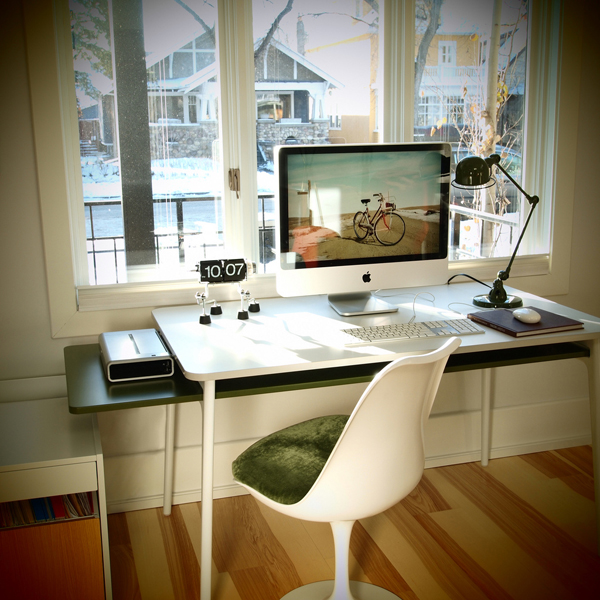 30 modern imac computer desk arrangement home design and for Apple home decoration