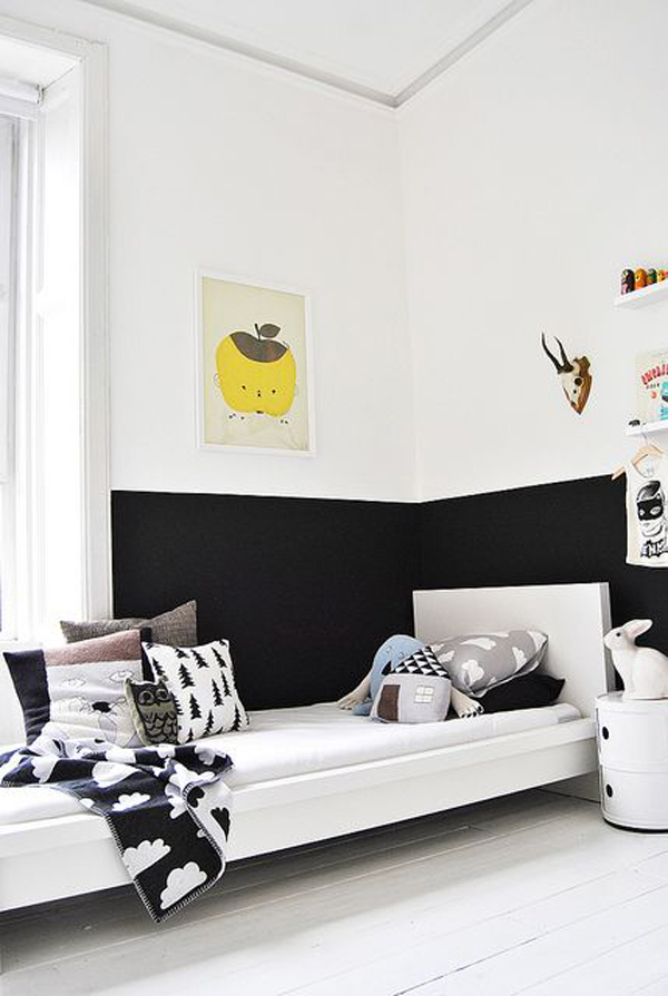 Kids half painted bedroom design - Kids rooms inspiring design ideas ...