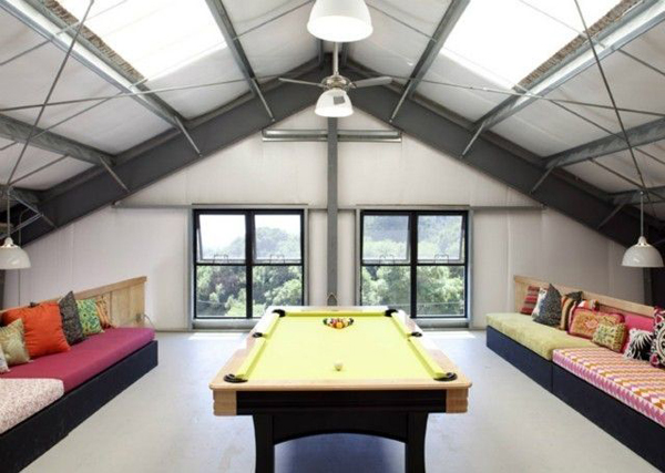 Loft Pool Room Decor