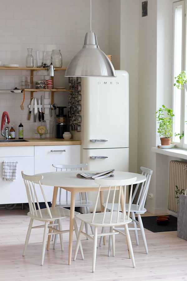 Minimalist White SMEG Fridges