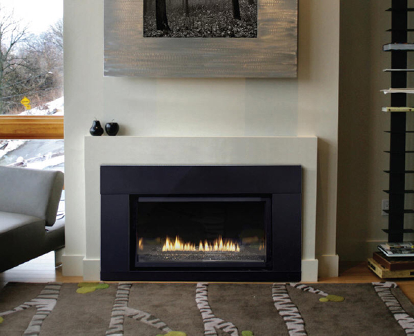 Fireplace inserts gas with modern style home design and for Contemporary fireplace insert