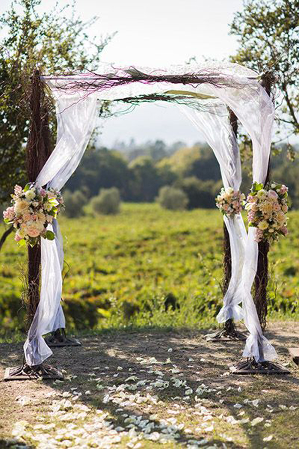 Outdoor Wedding Backdrop Gardens
