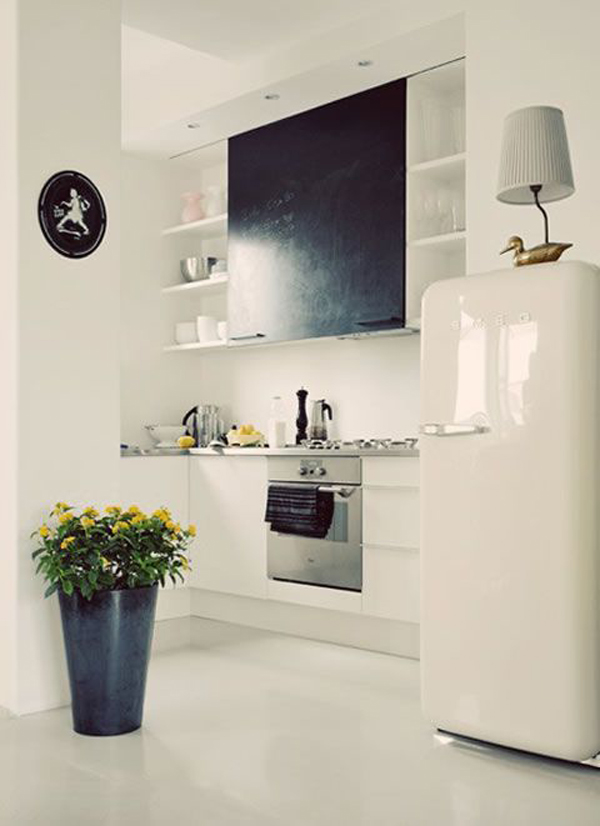 retro white smeg fridge freezer. Black Bedroom Furniture Sets. Home Design Ideas