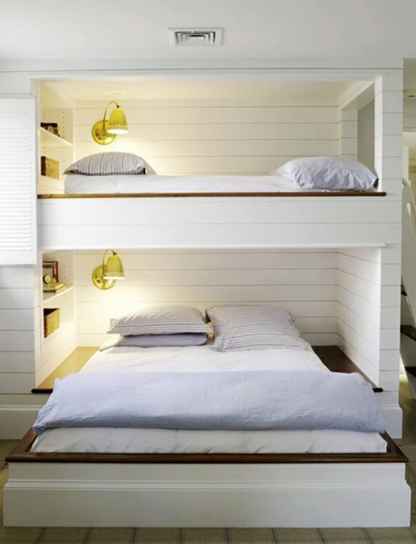 Shared Kids Bunk Beds With Less Decors Ideas