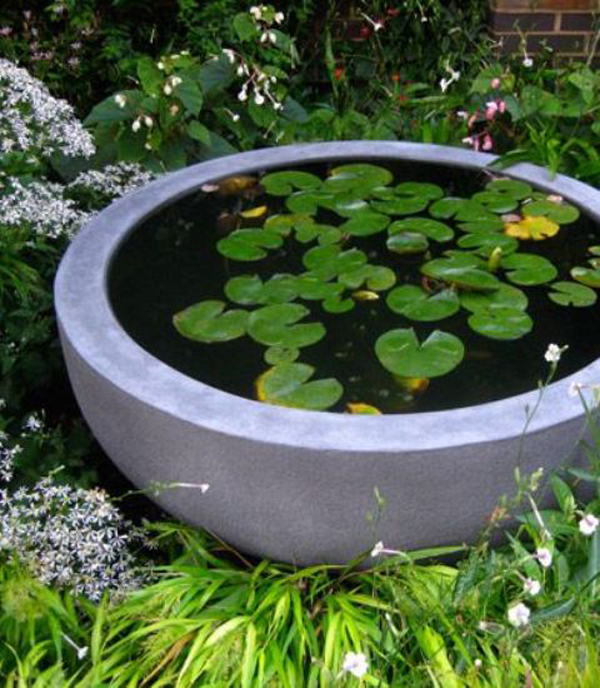 30 fresh mini ponds for little garden ideas home design for Concrete garden pond