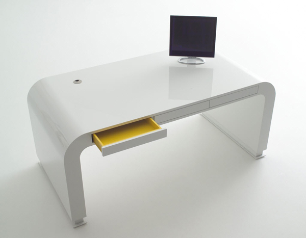 Stylish Desk stylish-white-imac-computer-desk