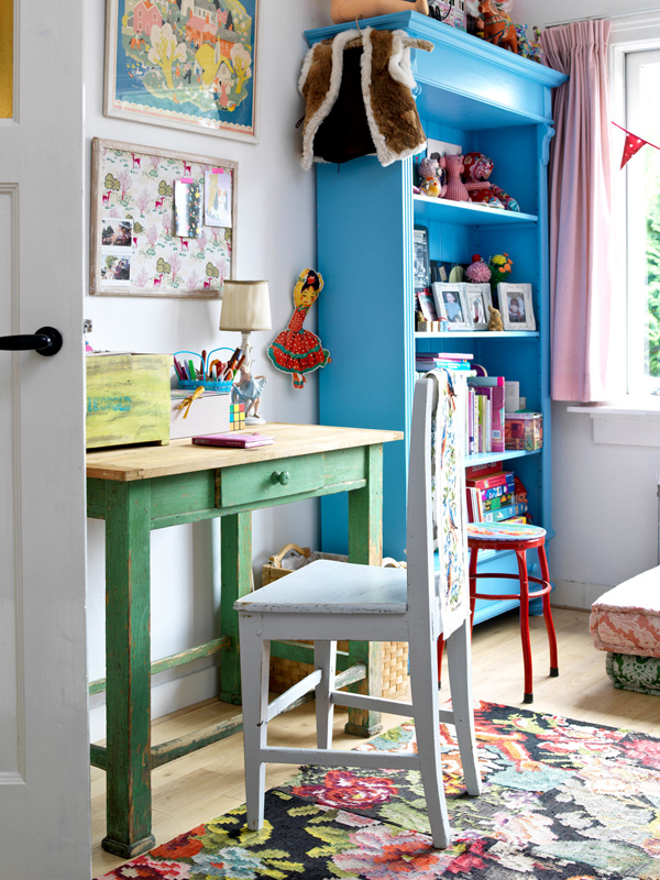 House Study Room: Vintage-kids-study-room-design