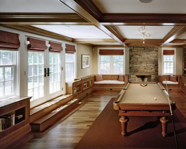 Vintage pool room ideas for Pool table room design