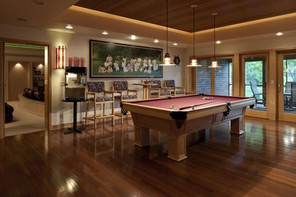 30 amazing billiard pool table ideas home design and interior. Black Bedroom Furniture Sets. Home Design Ideas