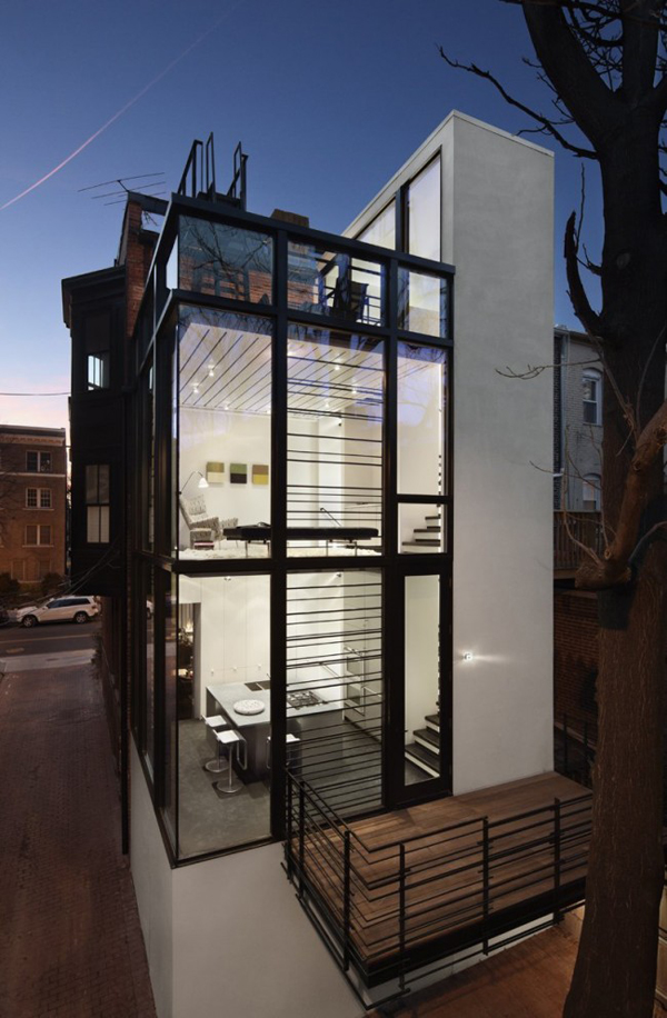 Different Architectural Styles Exterior House Designs: Barcode House With Glass Details By David Jameson