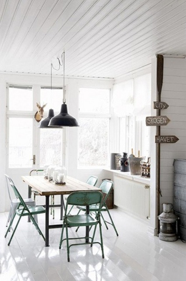 Bright Industrial Dining Rooms