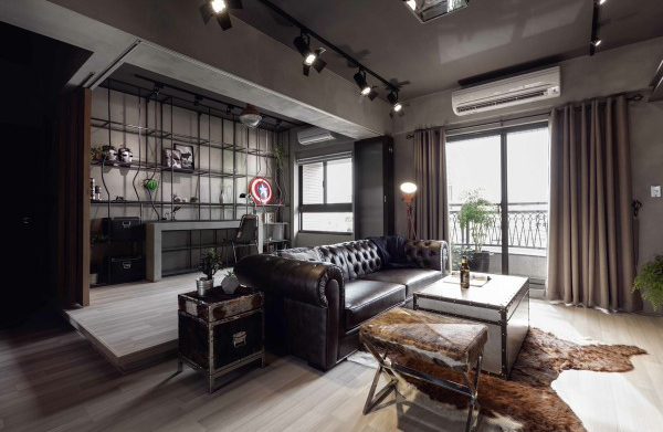 marvel heroes themed apartments with industrial touch home design