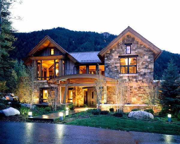 Contemporary mountain house ideas for Mountain home architects