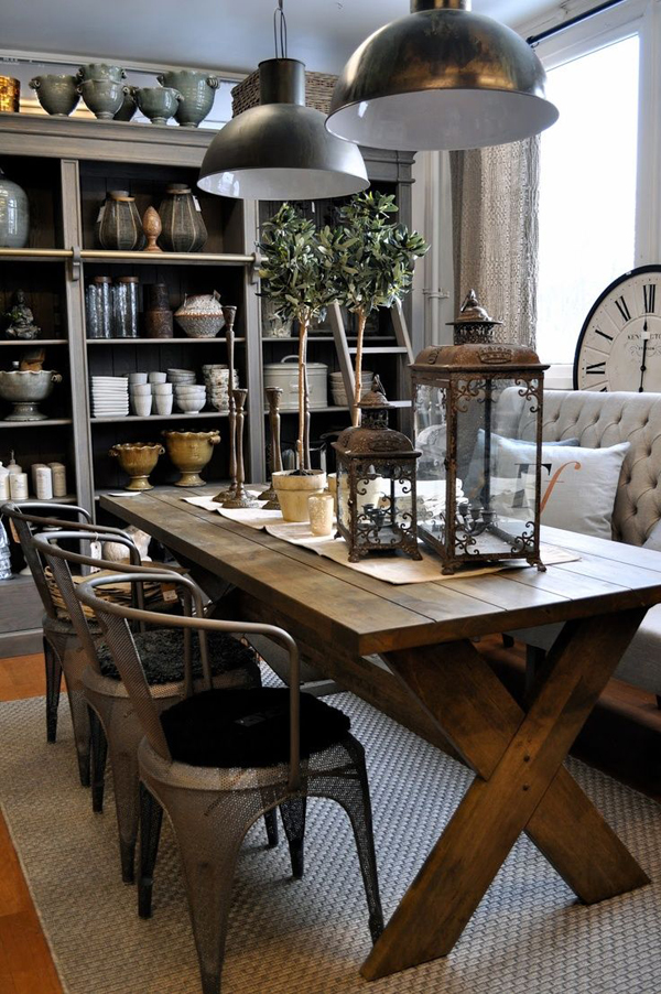 Cool industrial dining area for Home designers in my area