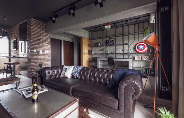 Marvel Heroes Themed Apartments With Industrial Touch | Home ...