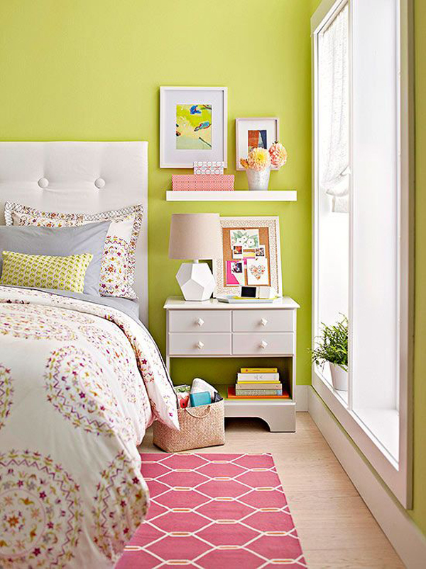 cheerful bedrooms in color home design and interior 10348 | green bedroom color