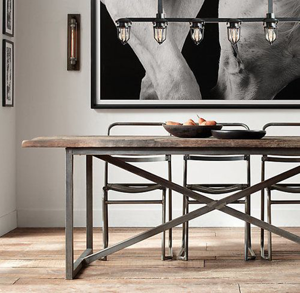 style to your dining room check out this amazing industrial dining