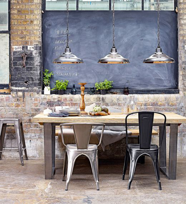 Industrial Modern Dining Room Table: 25 Industrial Dining Room With Masculine Interiors