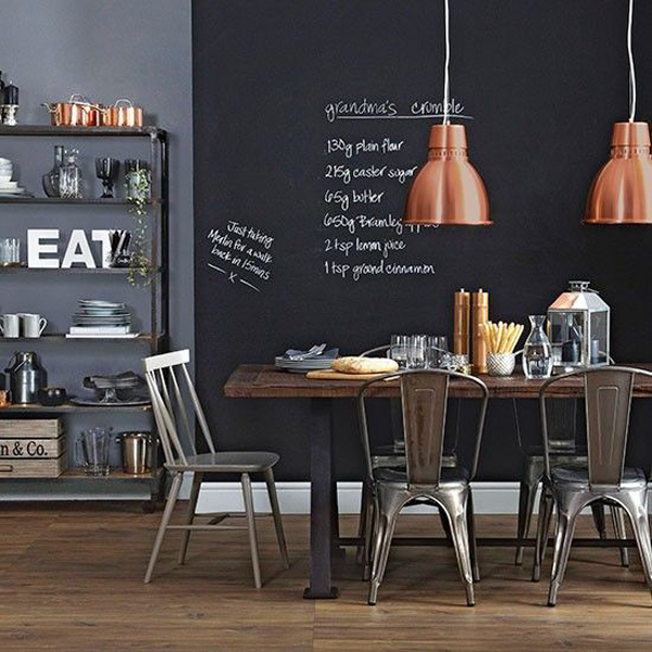 Industrial Contemporary: 25 Industrial Dining Room With Masculine Interiors