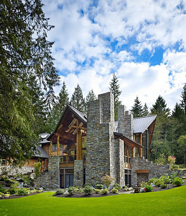 Log Home Exterior Ideas: Mountain-house-design