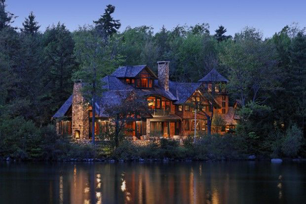 Mountain house with lake view for Mountain dream homes