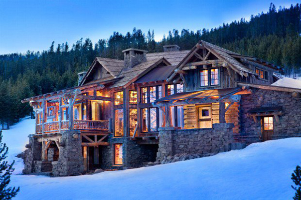 35 awesome mountain house ideas home design and interior for Ski cottage
