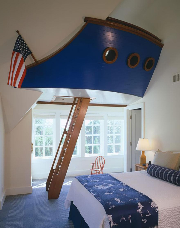Ship captain bedrooms for Childrens nautical bedroom ideas